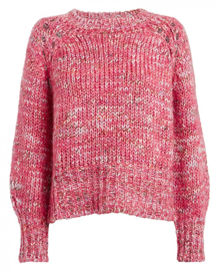 Hubert Marled Wool-Blend Sweater
