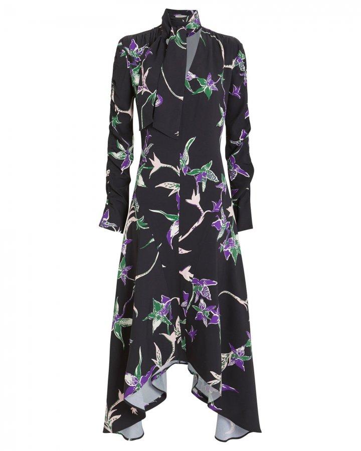 Martha Crepe Long Sleeve Dress