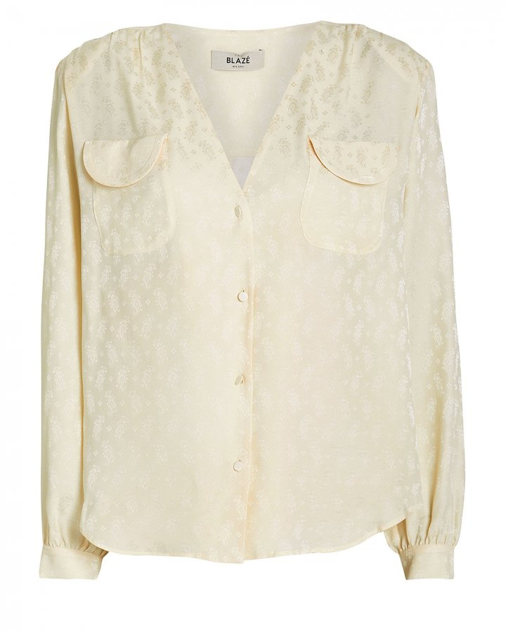 Andalusian Silk Button Down Blouse