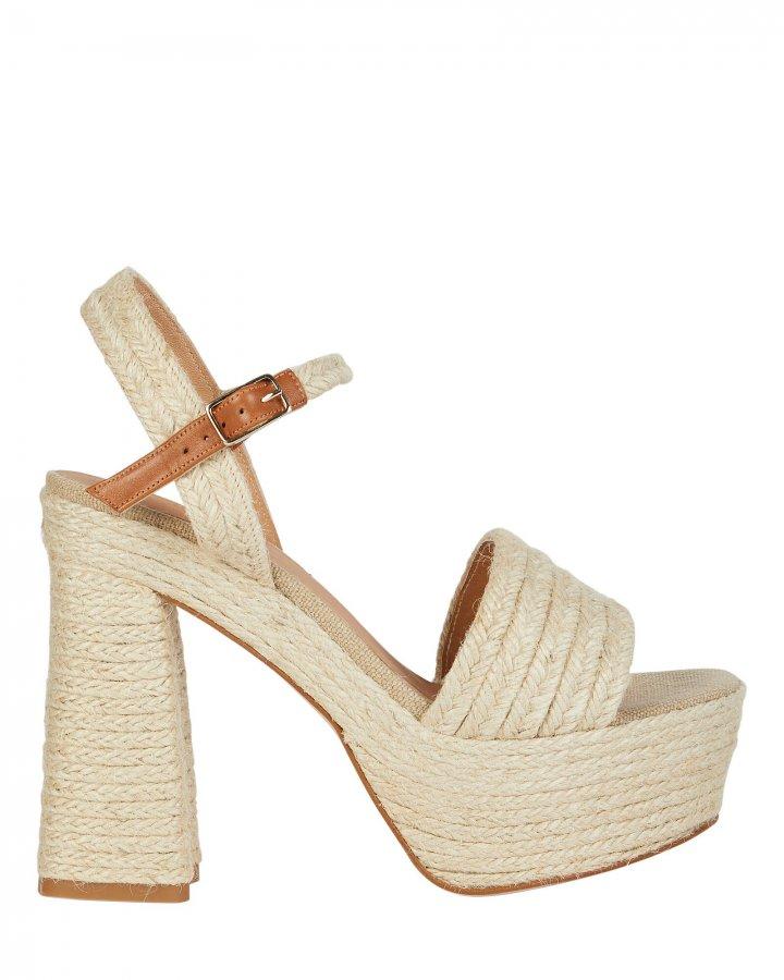 Aria Platform Raffia Sandals