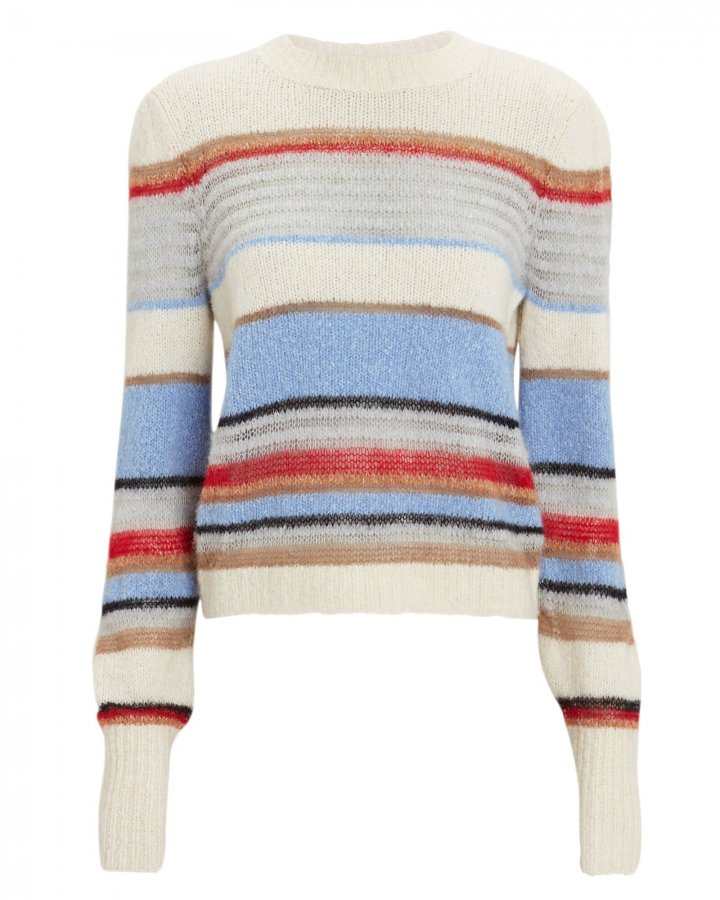 Meredith Striped Crew Sweater