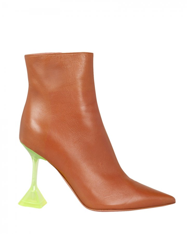 Giorgia Leather Contrast Heel Booties