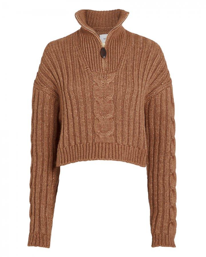 Eria Half-Zip Cable Sweater