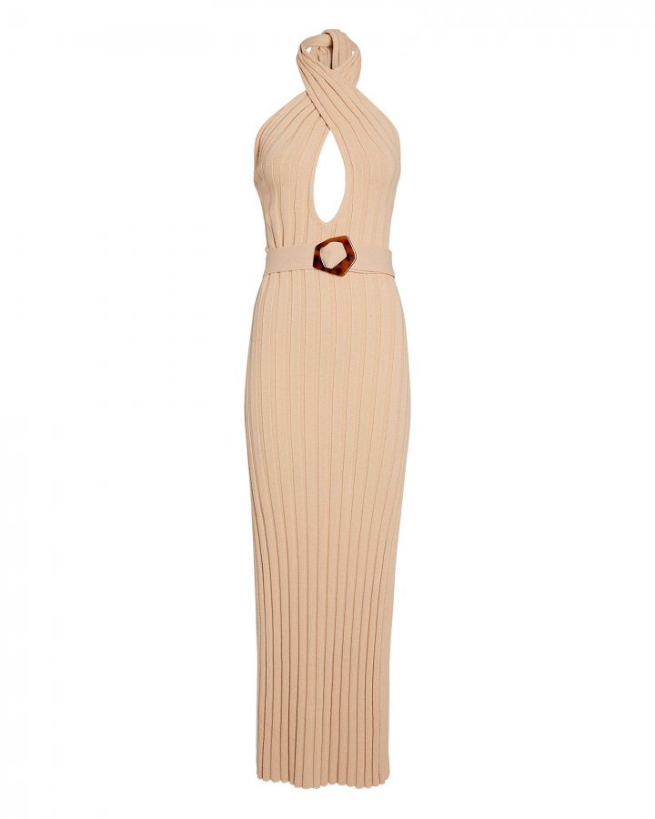 Harissa Rib Knit Halter Dress