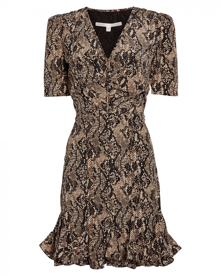Ried Python-Printed Mini Dress