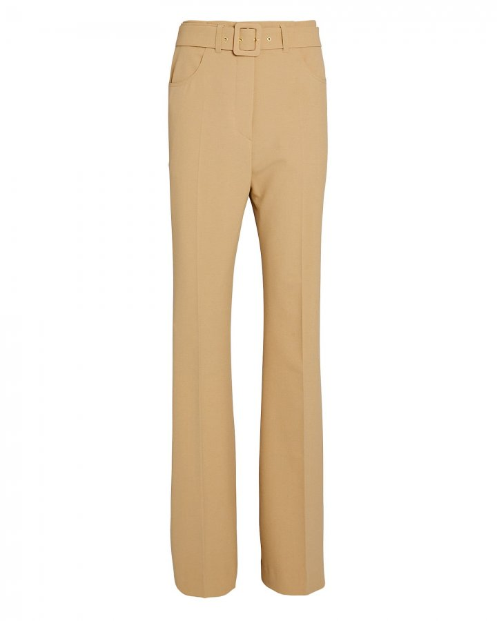 Clara Belted High-Rise Trousers