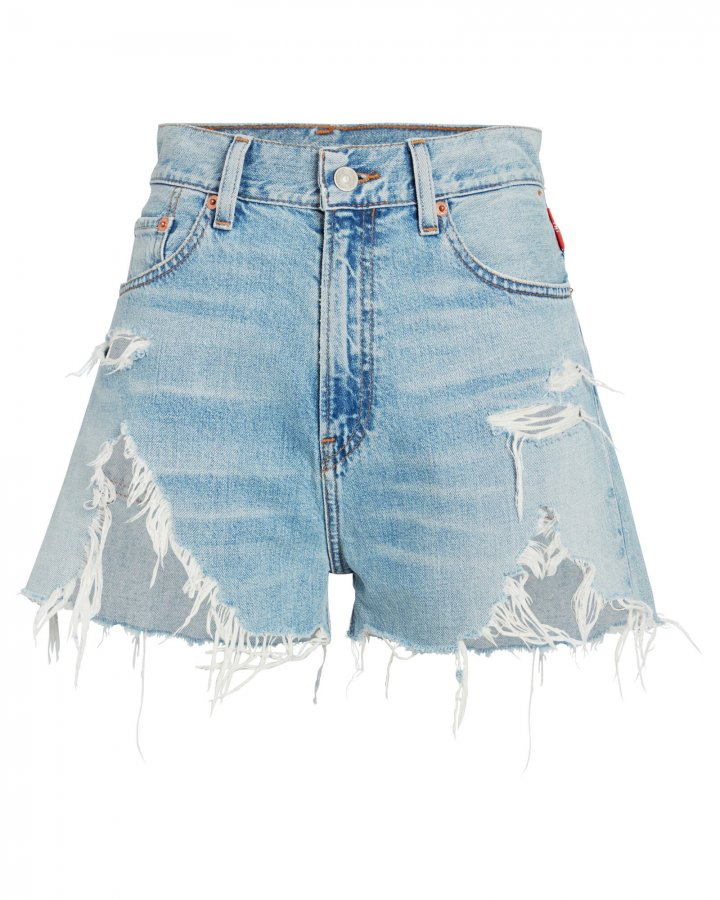 Nic High-Rise Distressed Shorts