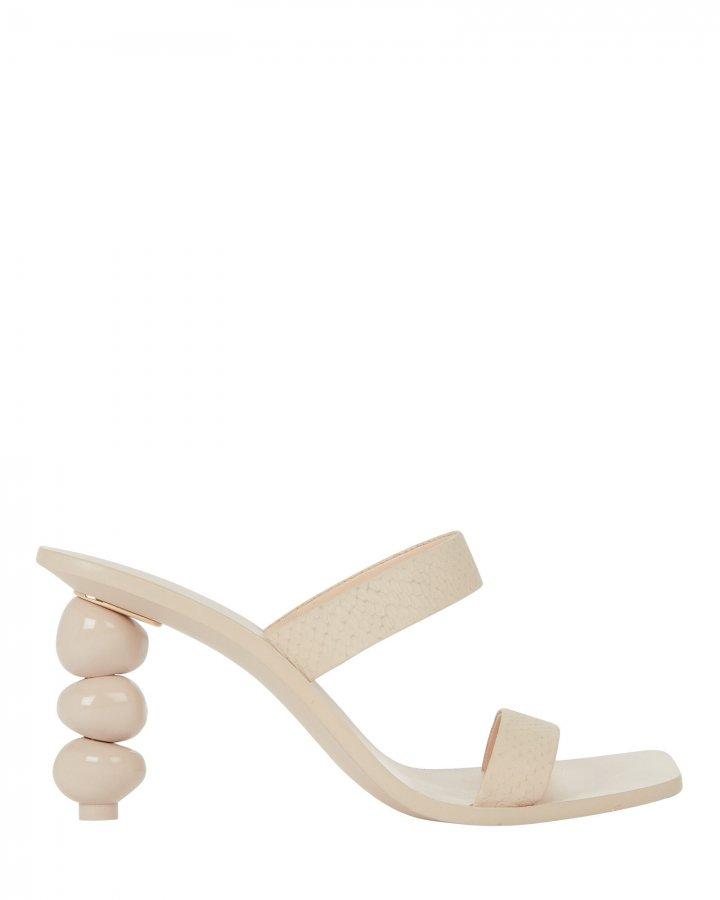 Meta Snake-Embossed Sandals
