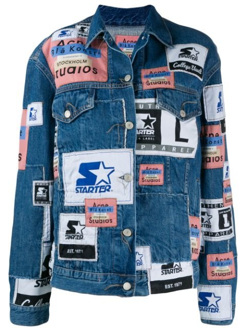 Acne Studios X Starter 2000 Patchwork Denim Jacket - Farfetch
