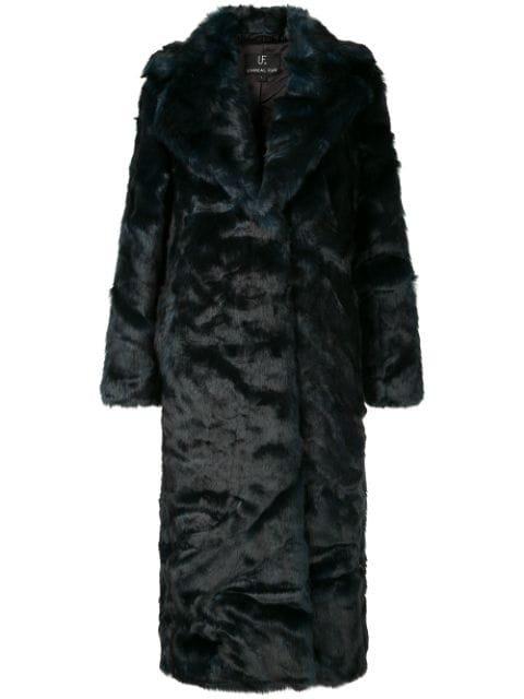 Unreal Fur Oversized Textured Coat - Farfetch