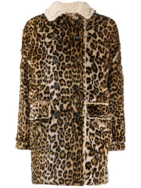 R13 Oversized leopard-print Coat - Farfetch