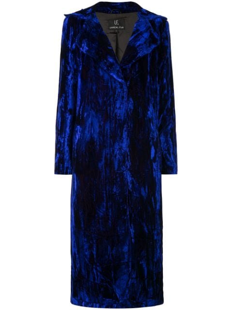 Unreal Fur Textured single-breasted Coat - Farfetch