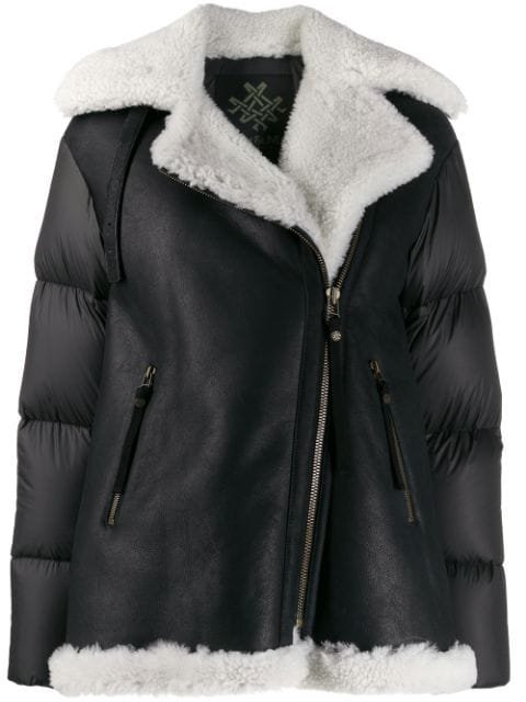 Mr & Mrs Italy padded-panel Shearling Jacket - Farfetch