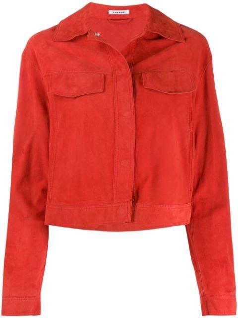 P.A.R.O.S.H. Cropped Fringed Sleeve Jacket - Farfetch