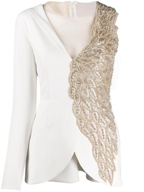 Loulou Asymmetric Beaded Jacket - Farfetch
