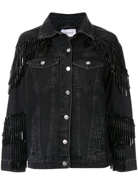 Dalood bead-fringe Denim Jacket - Farfetch