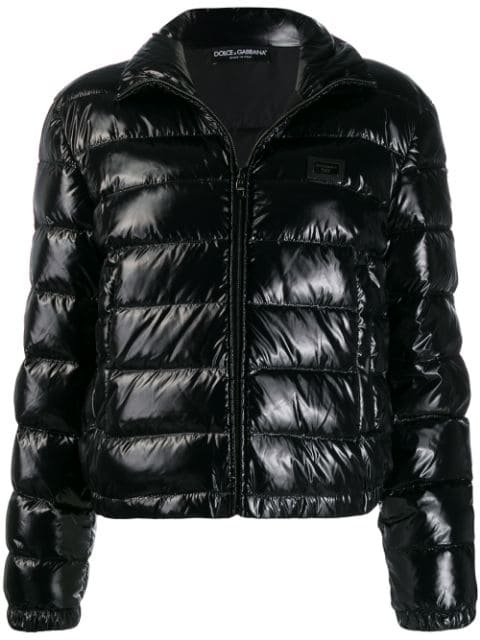 Dolce & Gabbana Shiny Puffer Jacket - Farfetch