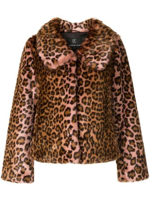 Unreal Fur Textured Leopard Print Coat - Farfetch