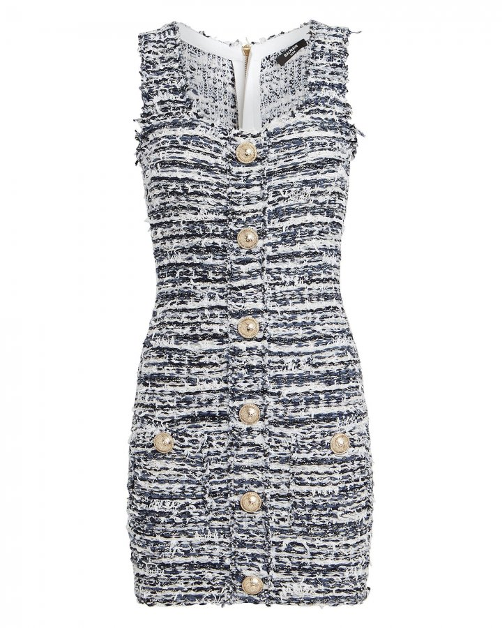 Tweed Sleeveless Mini Dress