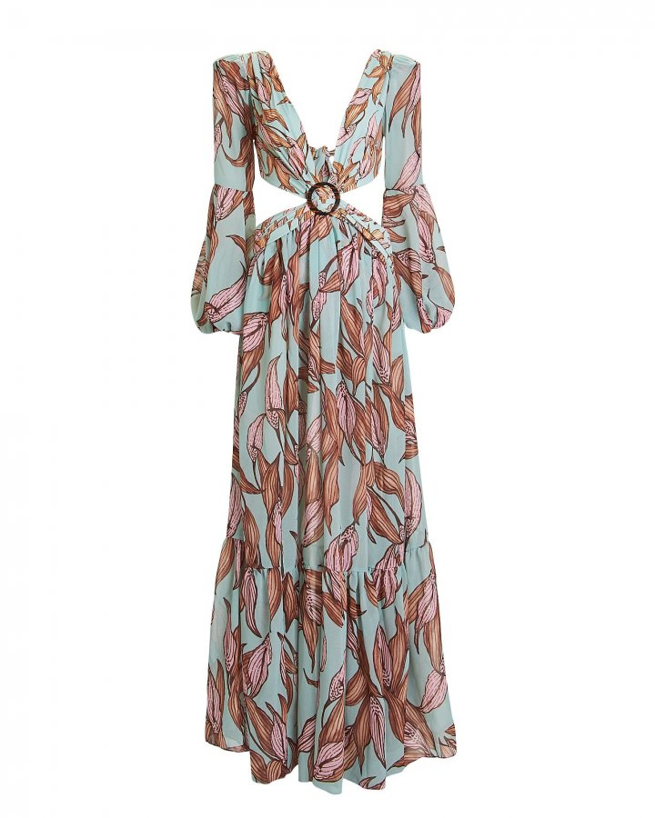 Cut-Out Maxi Beach Dress