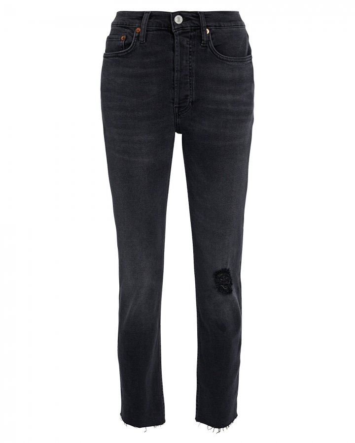 High-Rise Ankle Cropped Jeans