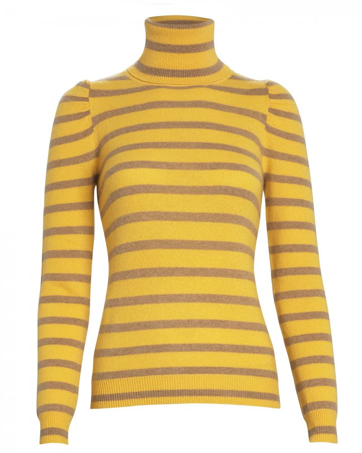 Pinnocchio Striped Cashmere Turtleneck