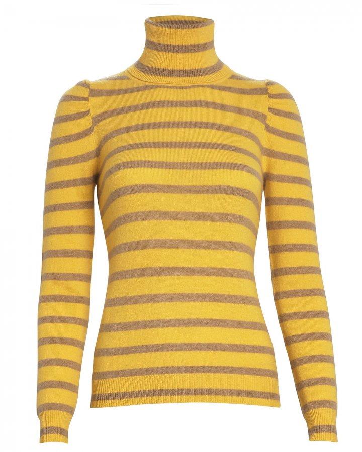 Pinnocchio Striped Cashmere Turtleneck