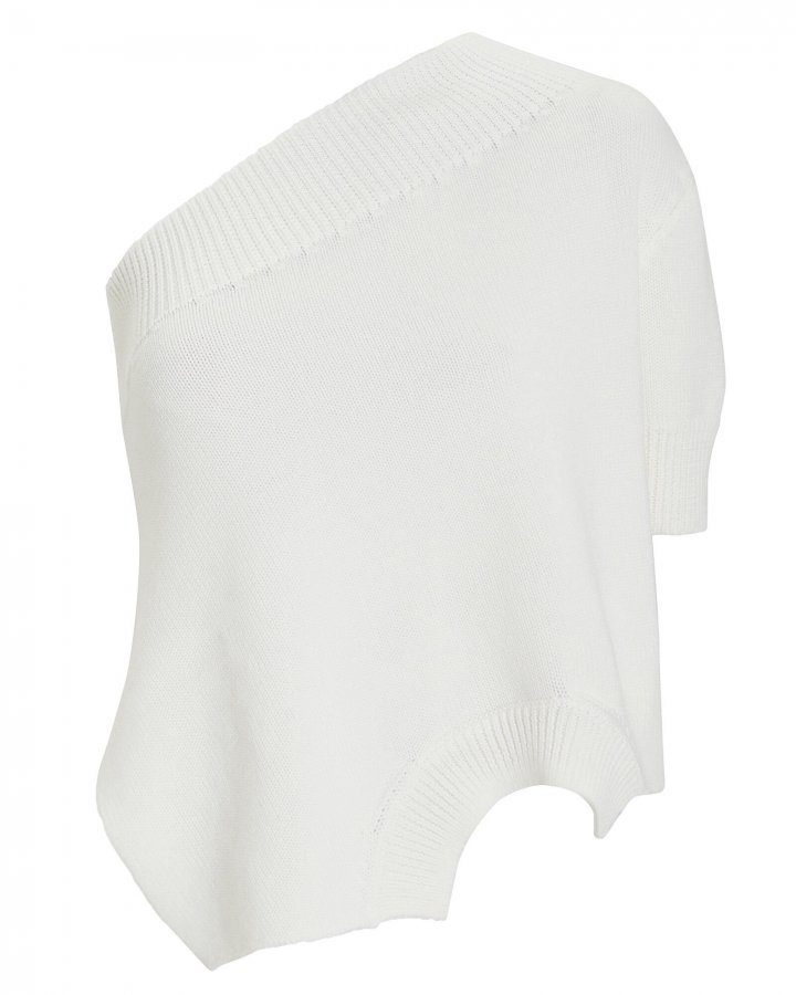 Merino Wool Asymmetrical Knit Top