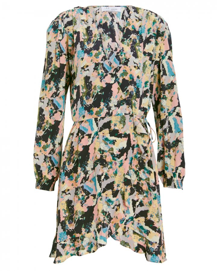 Bloomy Printed Wrap Dress