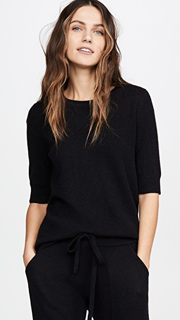Cashmere Essential Fitted Tee