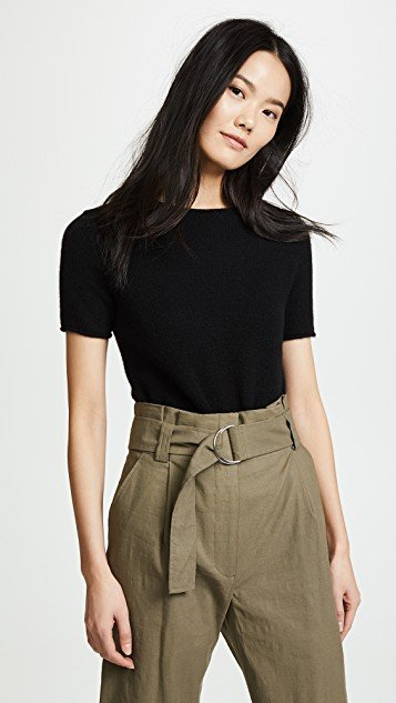 Cashmere Tolleree Short Sleeve Sweater
