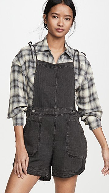 Natural Sights Linen Overalls