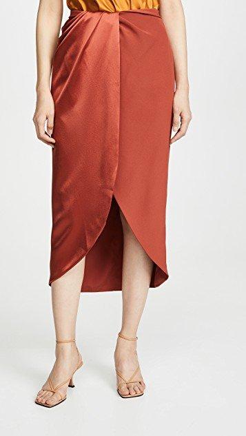 Matte/Shine Combo Wrap Skirt