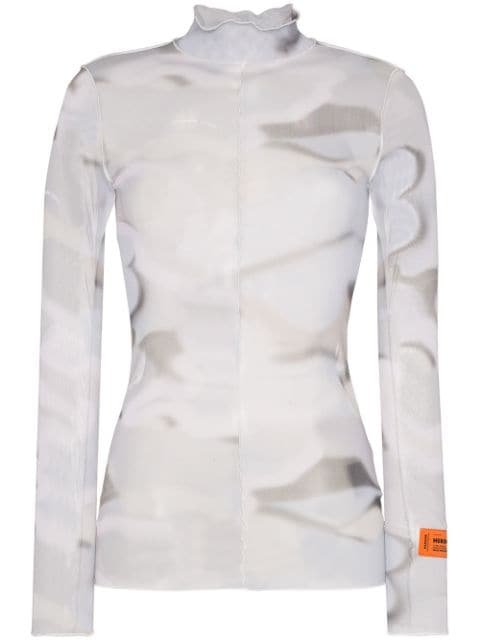 Heron Preston Scalloped tie-dyed Turtleneck Top - Farfetch