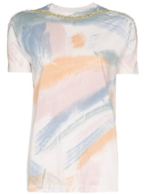 Collina Strada Sporty Spice Brushstroke Embellished T-shirt - Farfetch