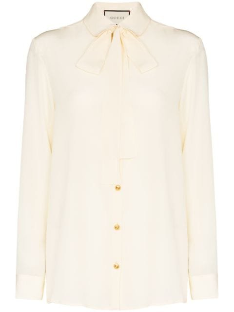Gucci Pussybow Collar button-down Shirt - Farfetch