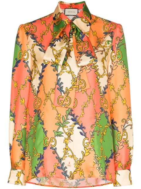 Gucci GG Diamond Print Blouse - Farfetch