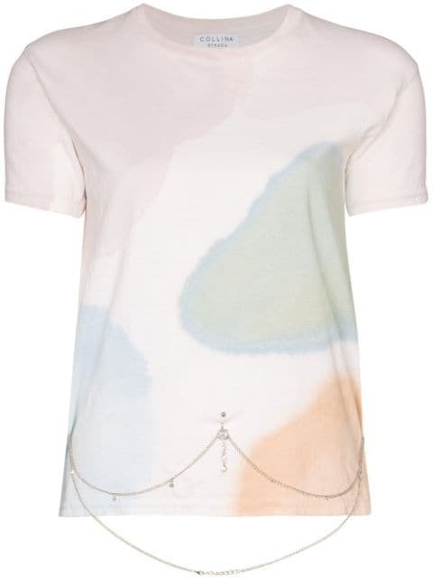 Collina Strada Watercolour Belly Chain T-shirt - Farfetch