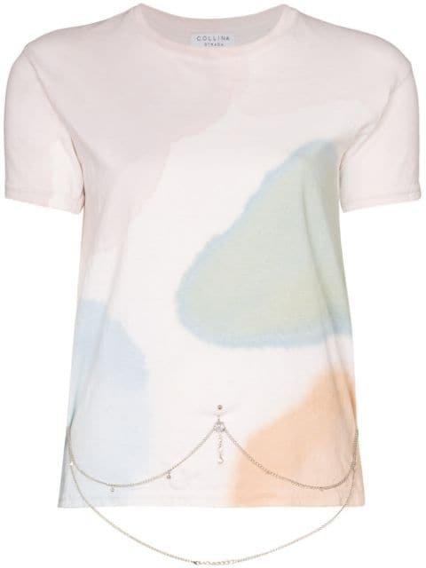 Collina Strada Watercolour Belly Chain T-shirt - Farfetch