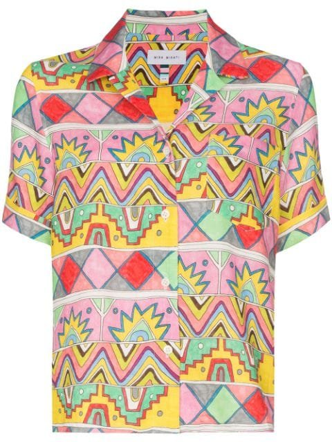 Mira Mikati Abstract Print Bowling Shirt - Farfetch