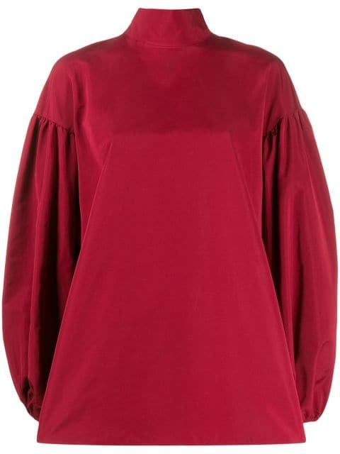 Valentino Balloon Sleeve bow-embellished Top - Farfetch