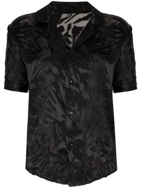 Saint Laurent Printed Sheer Shirt - Farfetch