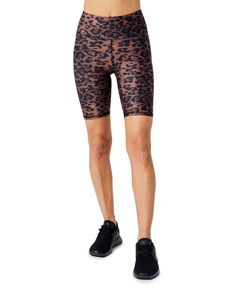 Hartley Leopard Biker Shorts