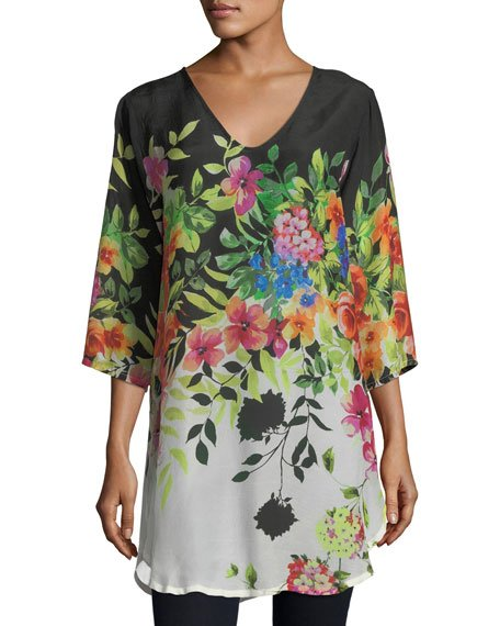 Betty Floral-Print V-Neck Top