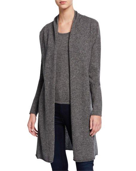 Plus Size Basic Cashmere Duster Cardigan