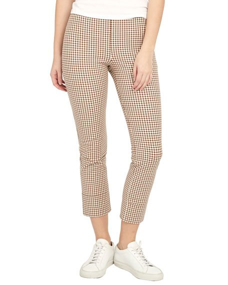 Skinny Stretch Cotton Capri Pants