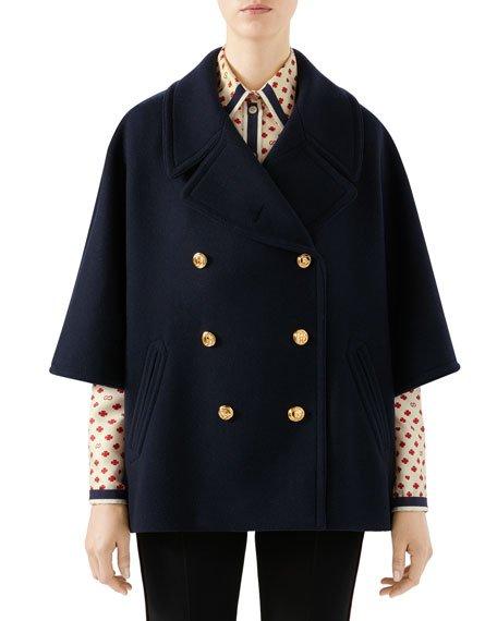 Military Cloth Caban Jacket