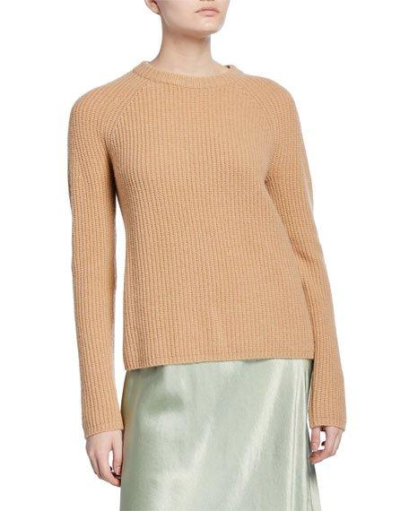 Shaker Rib Cashmere Sweater