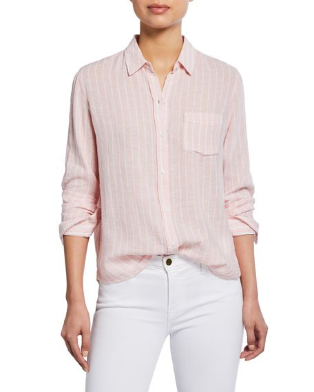 Charli Striped Button-Front Shirt