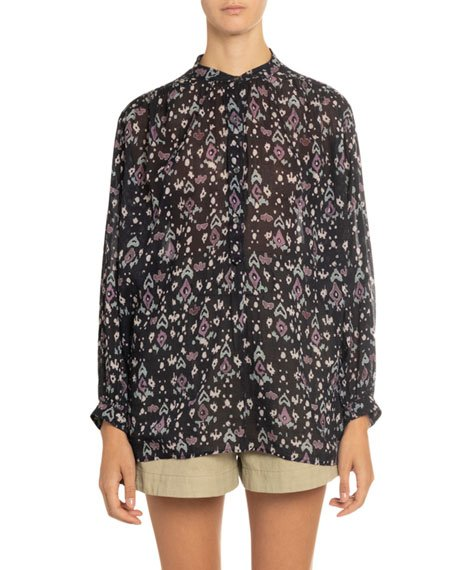 Fidaje Printed Button-Front Top